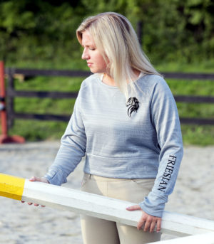 Friesian Hi-Lo Performance Fleece Crewneck Sweatshirt